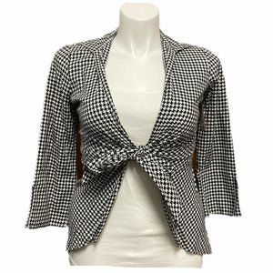 3 Sisters Houndstooth Blouse